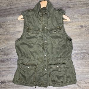 Max Jeans | Olive Green Utility Vest